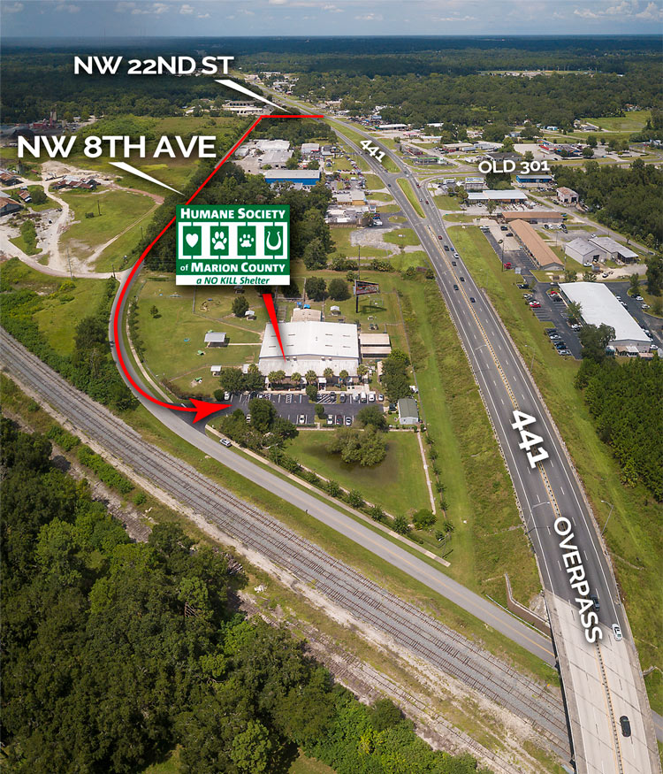 Humane Society Marion County Location Overview